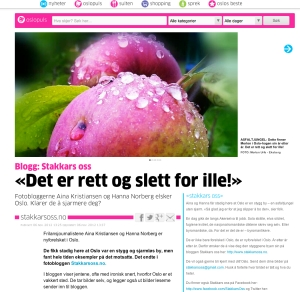 Skjermbilde Osloby.no Stakkars oss artikkel