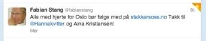 Fabian Stang anbefaler Stakkarsoss.no